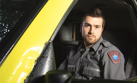 Paramedic in ambulance - attitudes to self harm article